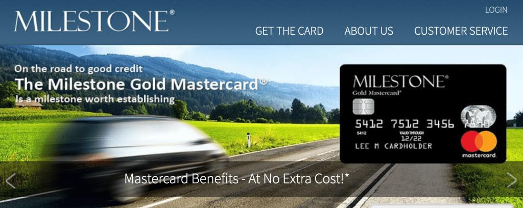 milestone credit card login
